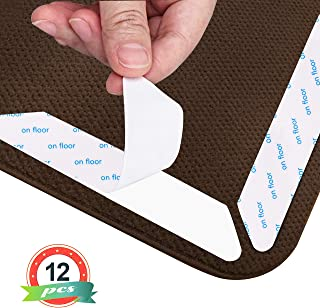 ZHOUBIN Rug Gripper - Anti Slip Rug Grippers Keep Rugs from Curling, Sliding and Slipping, Reusable Non Slip Rug Pad (12 Pcs)