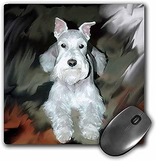 3dRose LLC 8 x 8 x 0.25 Inches Mouse Pad, White Schnauzer (mp_4827_1)
