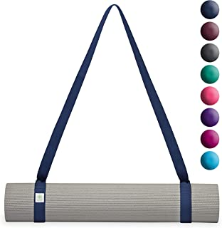 Gaiam Yoga Mat Sling - Easy Cinch Strap Carrier with Adjustable Metal D-Rings (Sold Individually in Assorted Color Options...