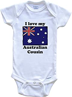 I Love My Australian Cousin Australia Flag Baby Onesie