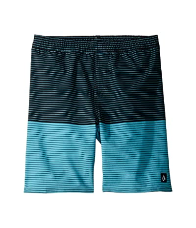 Volcom Kids Lido Heather Volley Boardshorts (Little Kids/Big Kids) (Cyan Blue) Boy