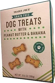 Trader Joe's | Dog Treats with Peanut Butter & Banana | Grain Free | 10.6 Ounces
