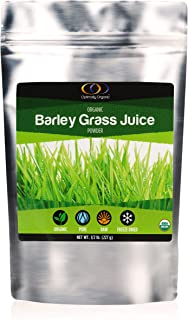 Organic Barley Grass Juice Powder - Pure Freeze Dried - Packed with Vitamins, Minerals, Chlorophyll and Antioxidants, 1/2 ...