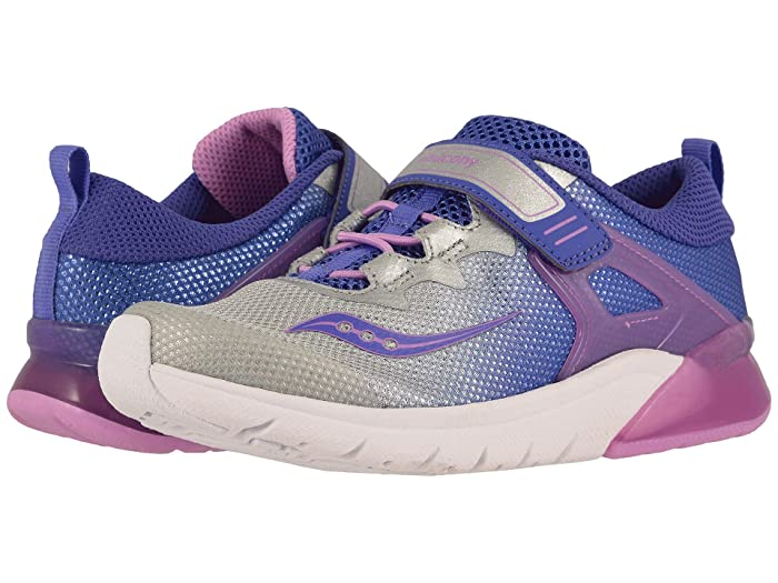 Saucony Kids  Flash Glow A/C (Little Kid) (Purple/Silver) Girls Shoes
