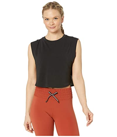 Lorna Jane Move Easy Cropped Tank (Black) Women