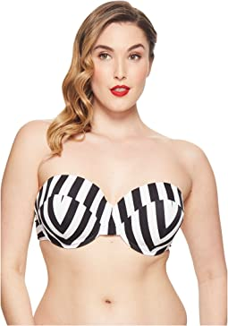 Unique Vintage Plus Size Charlene Bandeau Top
