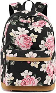 Cute Lightweight Canvas Bookbags School Backpacks for Teen Girls