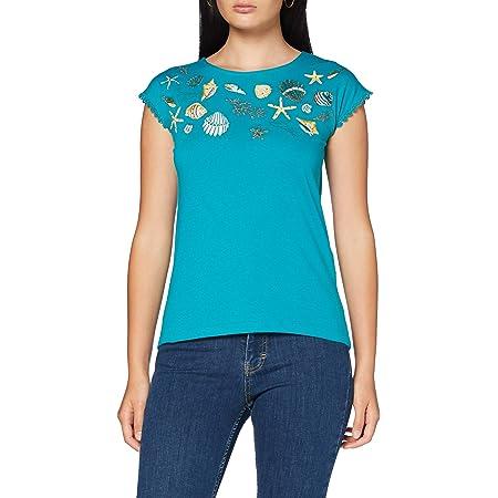 Springfield sequins-c/98 Camiseta, Multicolor (Multicoloured ...