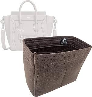 Zoomoni Celine Nano Luggage Bag Insert Organizer - Premium Felt (Handmade/20 Colors)