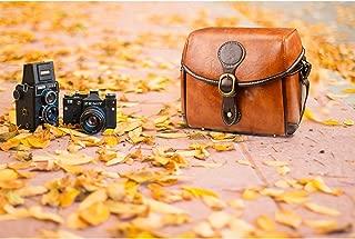 Topixdeals Vintage Camera Bag, DSLR Shoulder Camera Bag Removable Inserts, Waterproof Shockproof Camera Case Canon, Nikon, Sony, Pentax, Olympus, Panasonic, Samsung
