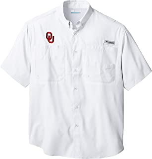 Men's PFG Collegiate Tamiami Short Sleeve Shirt, UV Protection, Wicking Fabric