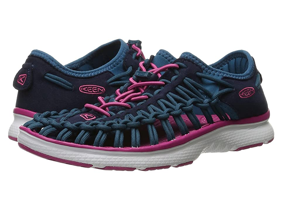 Keen Kids Uneek O2 (Little Kid/Big Kid) (Dress Blues/Very Berry) Girl
