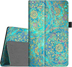 Fintie Folio Case for All-New Amazon Fire HD 8 Tablet (Compatible with 7th and 8th Generation Tablets, 2017 and 2018 Releases) - Slim Fit Vegan Leather Standing Protective Cover, Shades of Blue