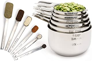 Best Simply Gourmet Measuring Cups and Measuring Spoons Set. Includes 12 Stainless Steel Measuring Cups and Spoons. Liquid Measuring Cup or Dry Measuring Cup Set. Stainless Measuring Cups, Nesting Cups Review