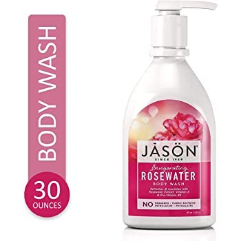 Jason Natural Body Wash and Shower Gel, Invigorating Rosewater 30 oz