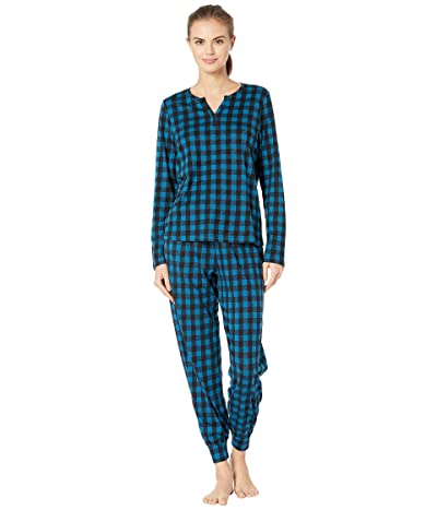 Cosabella Ski Trip Printed Pima Cotton PJ Set (Celestial Plaid/Black) Women