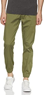 Amazon Brand - Symbol Men's Slim Fit Casual Trousers (AW17TRS-08-25_Light Olive_34)