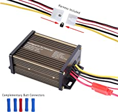 Pro Chaser DC Power Converter Reducer for Golf Carts RVs 36V 48V Reduce to 12V at 20 Amp 240 Watt Extra Key Switch Wire Complementary Harness & Butt Connectors
