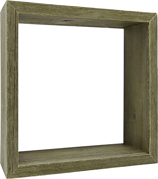 Distressed Wood Display Cube Small Decorative Shelf Wall D Cor Woodland Nursery Rustic Home D Cor 6 Inch Gray