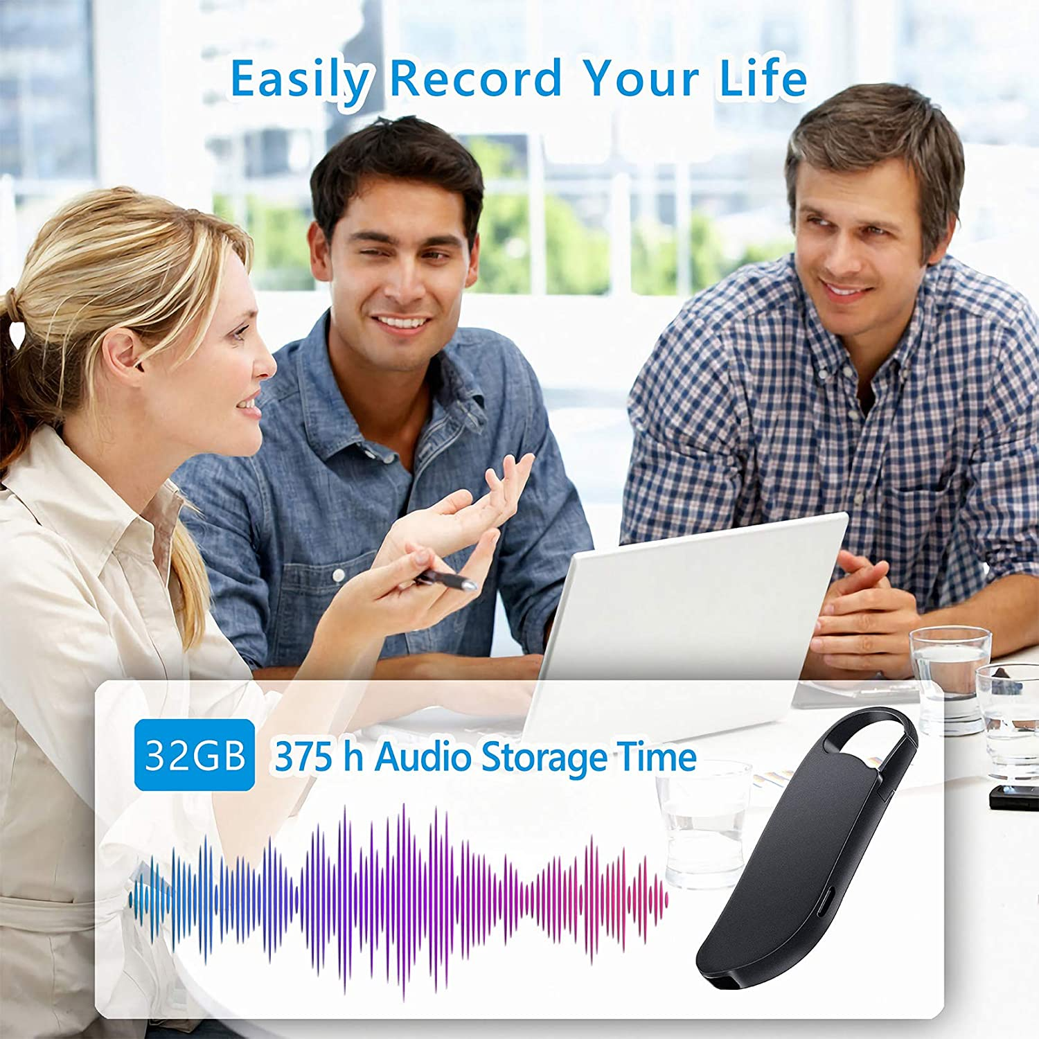 Meeting and More Small Audio Recorder for Lecture Interview 32GB ...