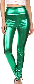 Shiny Liquid Metallic High Waist Stretch Leggings - Made in USA