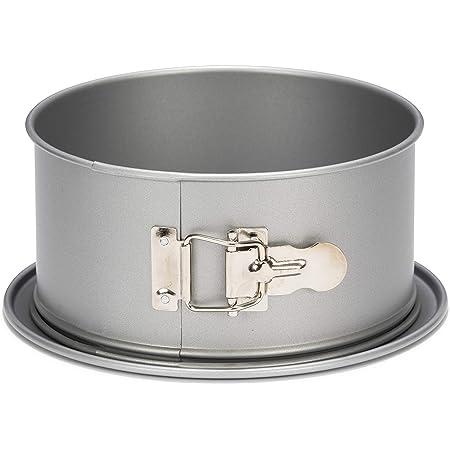 patisse 2048290 Moule à Gâteaux rond à charnière bord haut Silver Top 22 cm, Argenté, Ø 22cm