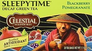 Celestial Seasonings Green Tea, Sleepytime Decaf Blackberry Pomegranate, 20 Count
