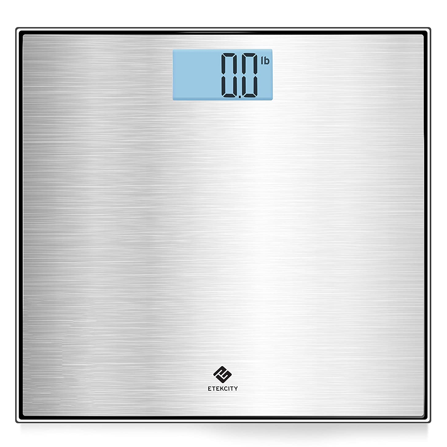Etekcity Digital Body Weight Bathroom Scale with Stainless Steel Platform, Step On and Auto Zero/ON/OFF Technology, Backlit LCD Display, 400 Pounds