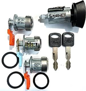 LC6177 Ford Ignition Switch Lock Cylinder + Three (3) Door Lock Cylinder W/2 Logo Keys
