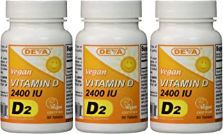 Deva Vegan Vitamin D Tablets, 3 Count