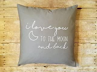 Ol322ay - Funda de Almohada para bebé, diseño con Texto en inglés I Love You to The Moon and Back