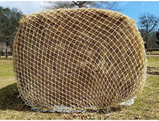 """Texas Haynet Heavy Gauge Round Bale Hay Net Slow Feed Nylon Twice as Thick Fits Bales 4x4-6x6 2.25"""" Holes Made in America"""