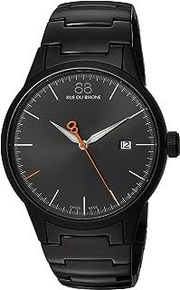 88 Rue du Rhone Men's ' Rive Swiss Quartz Stainless Steel Dress Watch, Color:Black (Model: 87WA154104