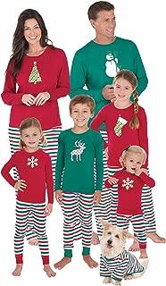 PajamaGram Matching Family Christmas Pajamas - Red/Green, Men's, M