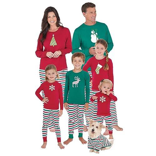 PajamaGram Women s Holiday Stripe Matching Family Pyjama Set c1bf613b7