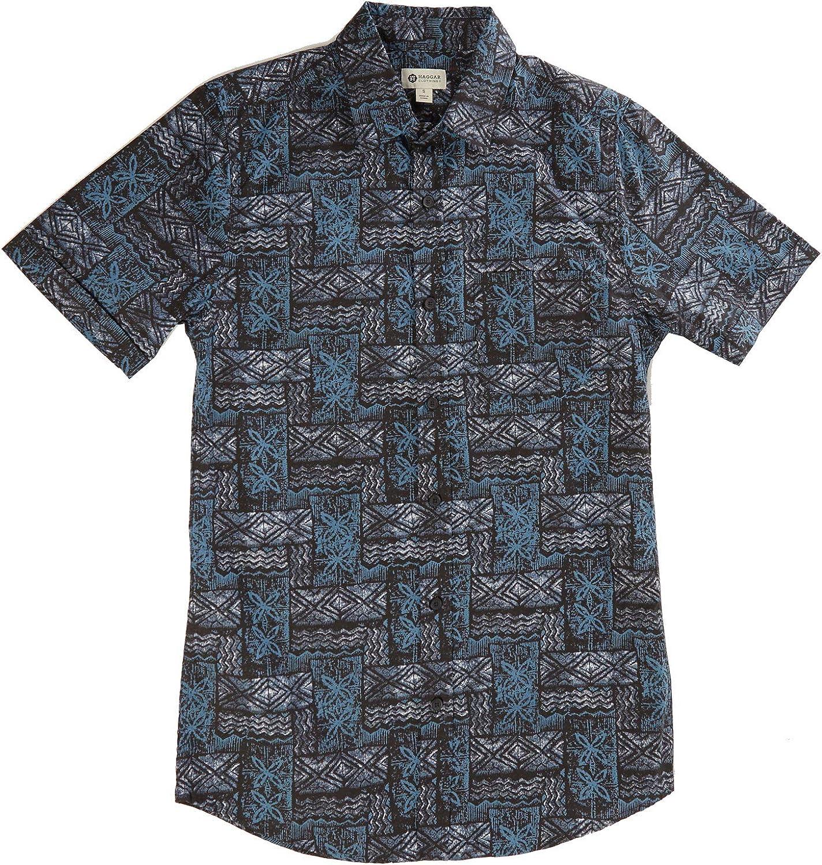 Haggar Men's Short Sleeve Button-Down Microfiber Woven Shirt