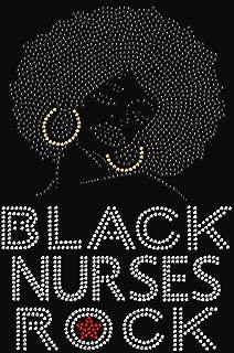 Black Nurses Rock Rhinestone Iron on Transfer