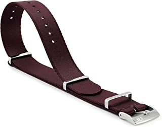 20mm Seatbelt Nylon Strap Watch Band with Finely Woven Soft Nylon and Slim 316L