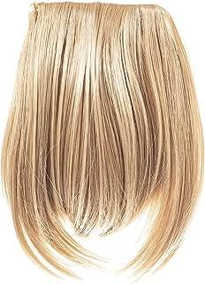Madison Braids Women's Long Bangs Hair Extension - Natural Looking Handmade Synthetic Hair - Eva - Sunset Blonde