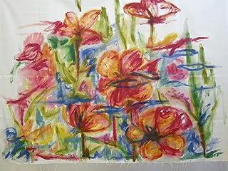 Cuadro Abstracto, tela de lona pintada,panel decorativo de BeccaTextile.