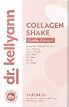 Keto Vanilla Almond Shakes - 100% Grass Fed Collagen Protein by Bone Broth Expert Dr. Kellyann - Gluten Free, Dairy Free, Soy Free, Non-GMO - Perfect for Keto, Paleo & Weight Loss Diets (7 Servings)