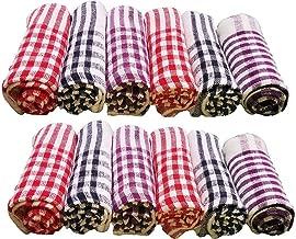 Niranj Cotton Cleaning Cloth Kitchen Multipurpose Napkin (15X15 Inch, Multicolour) - Pack of 12