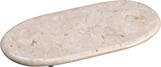 "Creative Home Natural Champagne Marble Oval Board, Cheese Board, 14"" x 6"", Beige Color"