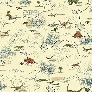 York Wallcoverings Brothers and Sisters V Mesozoic Era Removable Wallpaper, Cream/Brown/Dark Blue/Green/Orange/Tan