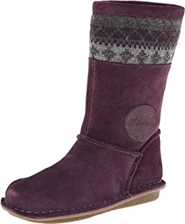 Clarks 67581 Girls Snugglehug T Boot,Purple,9.5 M US