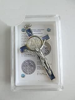 GTBITALY 10.005.11Azul Cruz De San Benito económica con Caja y orando en Italiano