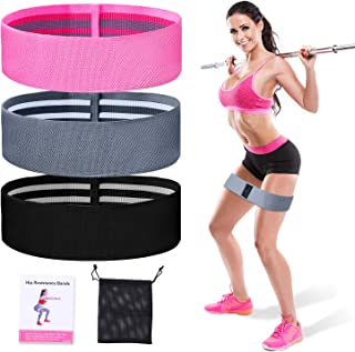 Resistance Bands for Women Butt and Legs,Fitness Resistance Bands Set,Non-Slip Elastic Exercise Fitness Bands for Squats, ...
