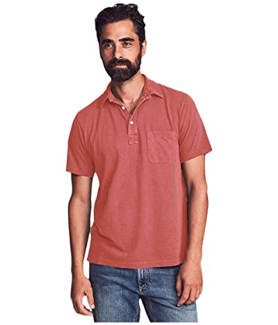 Faherty Sunwashed Polo (Hermosa Red) Men