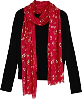 Girls' Long Sleeve Crew Neck Top with Scarf