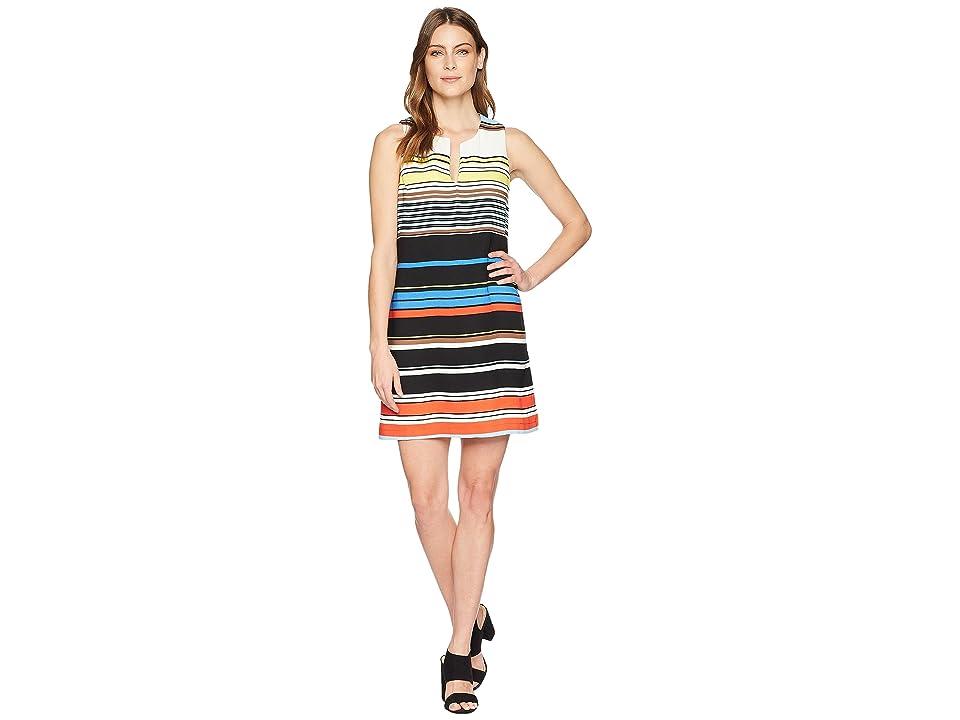 Karen Kane Modern Art Shift Dress (Stripe) Women